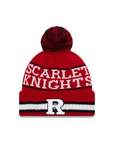 (New Era Rutgers Scarlet Knights College Vintage Select Knit Pom Beanie - Red, One Size)