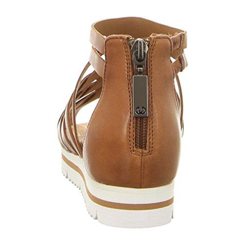 0bc5932f2 ... GERRY WEBER G46205-90370 - Sandalias de vestir de Piel Lisa para mujer  coñac ...