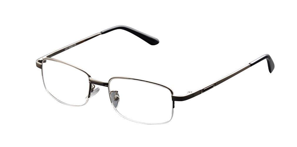 De Ding Metal Half Rim Bifocal Reading Glasses 1 x)