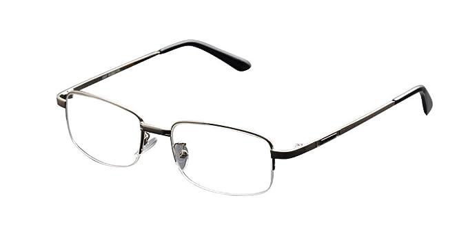 3ae8bd991b72 Amazon.com  De Ding Metal Half Rim Bifocal Reading Glasses (silver ...