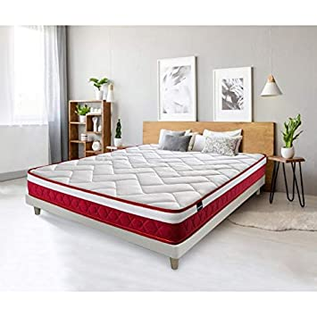 Tanuk Red Velvet 80x180 Tamaño Mini Individual High Resilience Foam Mattress - Colchones (210 mm