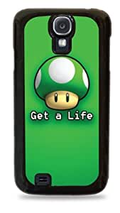422 Get a Life Mario 1 Up Mushroom - Black Silicone Case for Samsung Galaxy S4