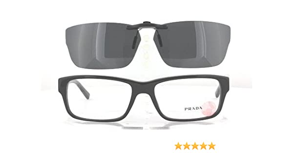 88a5d70c0d12 Amazon.com  PRADA VPR16M-55X16 POLARIZED CLIP-ON SUNGLASSES (Frame NOT  Included)  Health   Personal Care