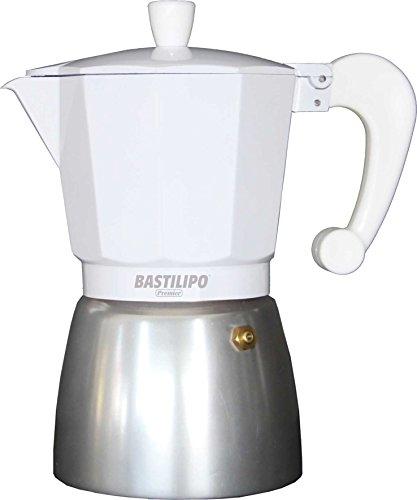 Bastilipo Colori-9 Cafetera, Aluminio, Blanco