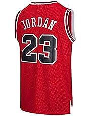 JYV Jersey Man Men NBA Michael Jordan # 23 Basketball Chicago Bulls T-Shirt Sport Sleeveless Top Sport Sports M-XXL