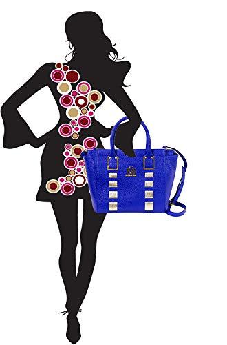 Cuero Bolso By Italiano Cobalto Diseñador Bandolera Lcm Azul Valentino De Orlandi nZqEgHW4x4