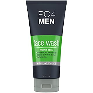 Paula's Choice PC4MEN Daily Face Wash for Men with Aloe, Fragrance Free for Sensitive Skin, 6 Ounce