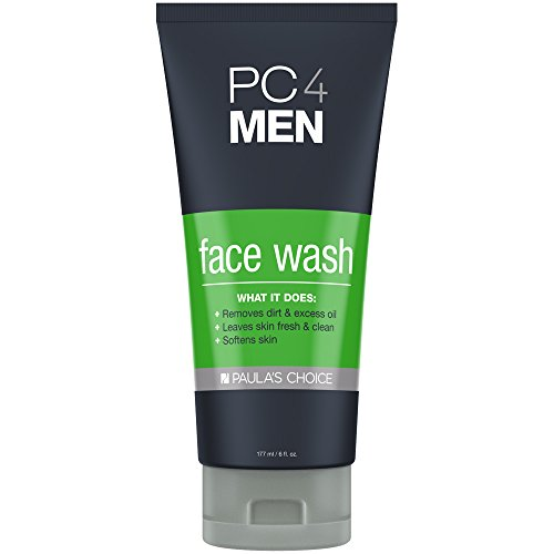 Paula's Choice PC4MEN Face Wash with Aloe for Men Fragrance Free Facial Cleanser, 6 Ounce Bottle