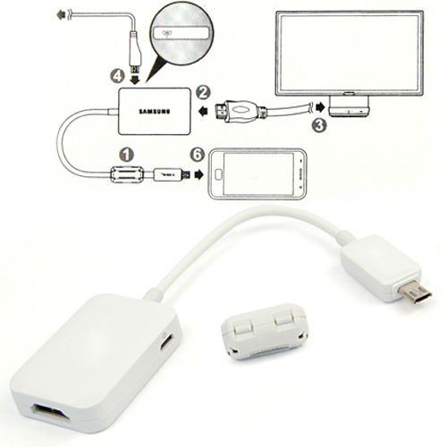 GohEun MHL Micro USB Male to HDMI Female Cable Adapter fo...