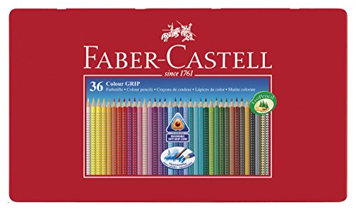 Faber-Castell 112435 Buntstifte Colour Grip 2001, 36er Metalletui