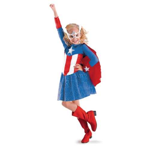 [American Dream Girl Classic Costume - Medium (7-8)] (Baby Girl Marvel Costumes)