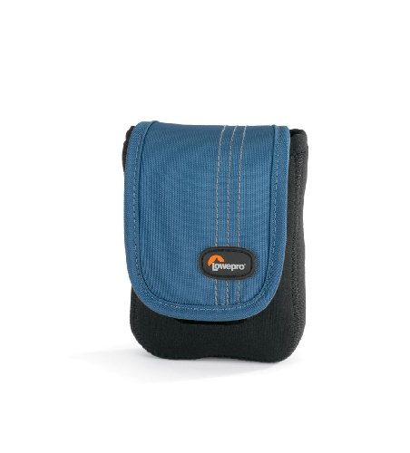 - Lowepro Dublin 20 Slim Profile Pouches for Cameras and Compact Video Cameras (Black/Arctic Blue)