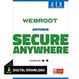 Webroot Internet Security with Antivirus Protection - 2019 Software | 3 Device | 2 Year Subscription | PC Download