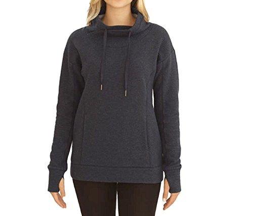 (Kirkland Signature Ladies' Mock Neck Pullover (Gray, Large))