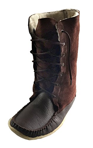 - Laurentian Chief Men's Moccasin Boots Sheepskin Lined 13