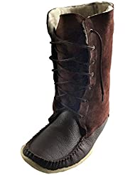 Laurentian Chief Men's Moccasin Boots Sheepskin Lined 13' Snowshoe Mukluks