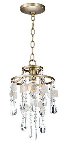 - Maxim Lighting 14422CZGS Cebu Pendant Light Capiz/Gold Silver