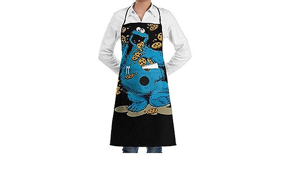 Delantal Chefs Cocina para Cocinar//Hornear MOLENKY Delantal de Cocina de Poli/éster Negro con Tira de Cuello Ajustable y 2 Bolsillos 2 Piezas