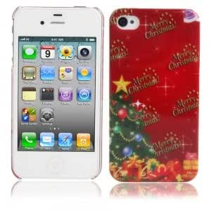 Christmas Series Plastic Protective Case for iPhone 4/4S Christmas Tree