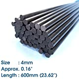 ABEST 4mm Diameter x 600mm Length Carbon Fiber