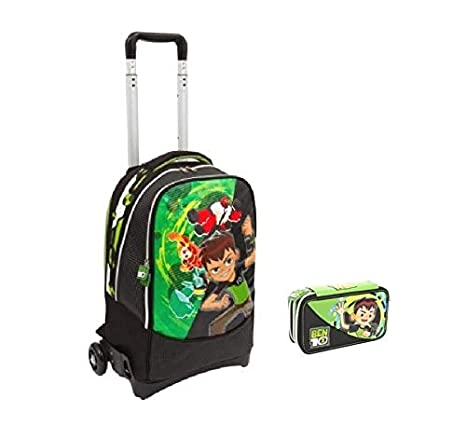 Trolley Mochila Escolar Ben 10 Cartoon Adventure + Estuche 3 ...