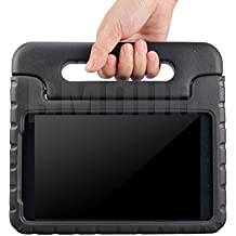 BMOUO Samsung Galaxy Tab A 8.0 Kids Case - EVA ShockProof Case Light Weight Kids Case Super Protection Cover Handle Stand Case for Kids Children for Samsung Galaxy TabA 8-inch Tablet - Black Color