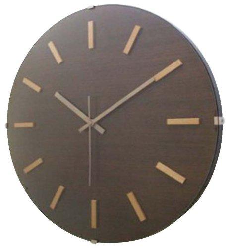 フォーカススリー 置き時計掛け時計 ブラウン 直径34.8×5cm 1170532 B00ATY10T2ブラウン