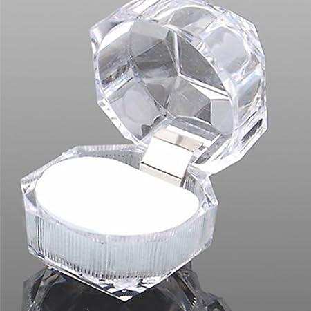 Homeofying - 1 Caja de acrílico Transparente para exhibir Anillos ...
