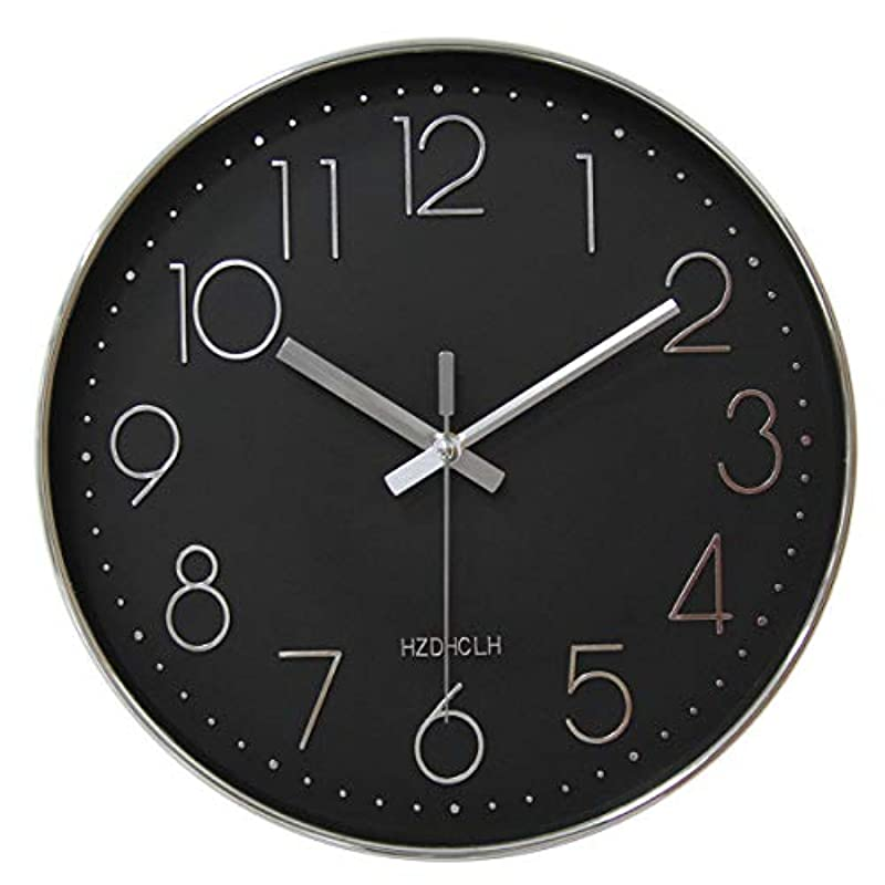 HZDHCLH 벽시계 전파 시계 멋쟁이 북유럽 연속 초침 정음 벽 시계 자동 수신 re《핀구》 괘종시계 인테리어 대숫자 보기 편리하 30cm (전파・핑크)