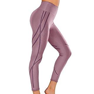 Women's High Waist Workout Gym Vital Seamless Yoga Pants Running Leggings Purple M
