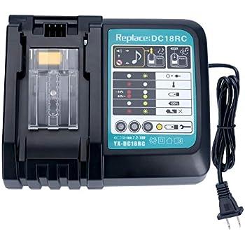 Lasica DC18RC 18V Lithium-Ion Rapid Optimum Charger for All Makita 14.4V-18V Lithium Battery BL1830 BL1850 BL1840B BL1041B BL1820 BL1815 BL1860 BL1430 ...
