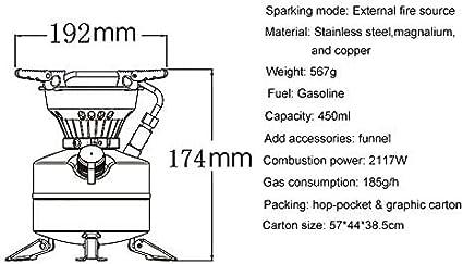 N / A BRS-12A Mini Quemador portátil al Aire Libre Estufa de ...