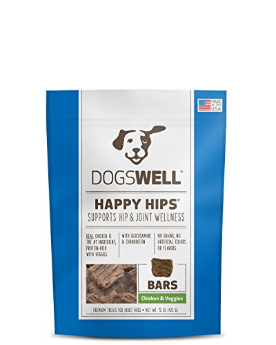 Dogswell Happy Hips Dog Treats, Chicken & Veggies, 15 Ounce -