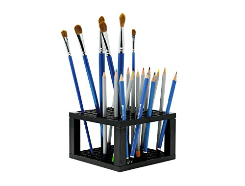CAXXA 96 Hole Plastic Pencil & Brush Holder - Desk Stand Organizer Holder for Pens, Paint Brushes, Colored Pencils, Markers (1 Pack)