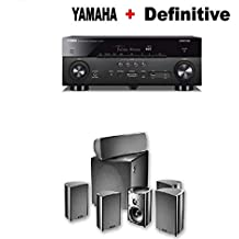 Yamaha AVENTAGE RX-A680 7.2-ch 4K Ultra HD AV Receiver with HDR + Definitive Technology ProCinema 600 5.1 Home Theater Speaker System Bundle