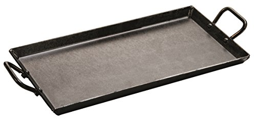 Lodge CRSGR18 Carbon Steel Griddle, Pre-Seasoned, 18-inch , Black ()