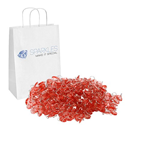 Sparkles Make It Special 14mm Acrylic Crystal Garland Octagon Beads Strand 12 Yards (Coral Bead Chandelier)