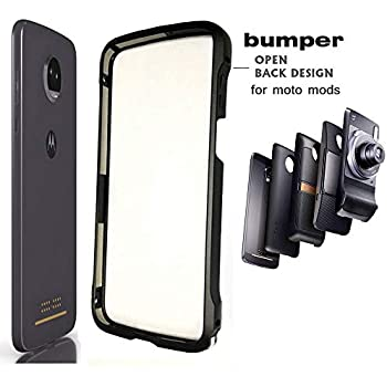 Moto Z3 Case Z3 Play Bumper Case Compatible Moto Mods Dngn Luxury Aluminum Metal Frame Cover 4 Corners Shockproof Protective Slim Fit for Motorola Moto ...