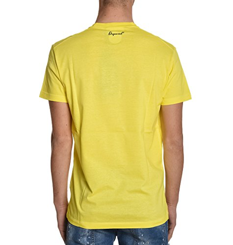Dsquared2 Herren S74GD0212S22427172 Gelb Baumwolle T-Shirt