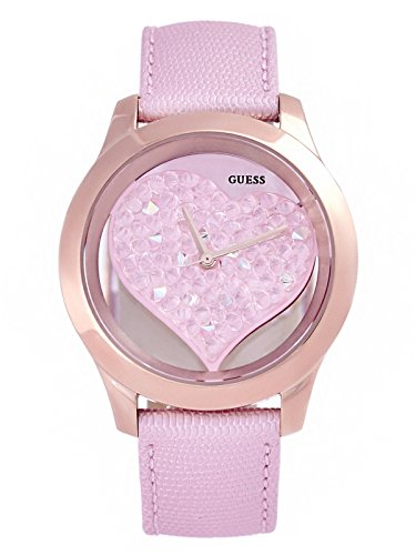 Guess Gold Tone Clear Heart Watch