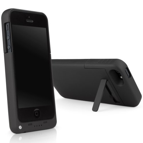 iPhone 5 Battery BoxWave RocketPack court case Emergency strength Battery Cover for Apple iPhone 5 5s Jet Black Cases