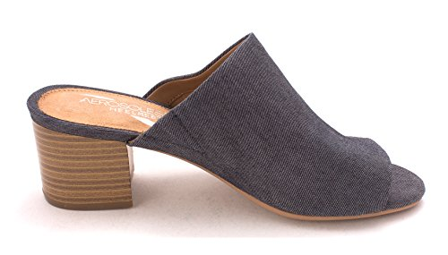 Aerosoles Womens Midterm Leather Open Toe Mules Denim Fabric clearance official sale with paypal QeRsiKE5