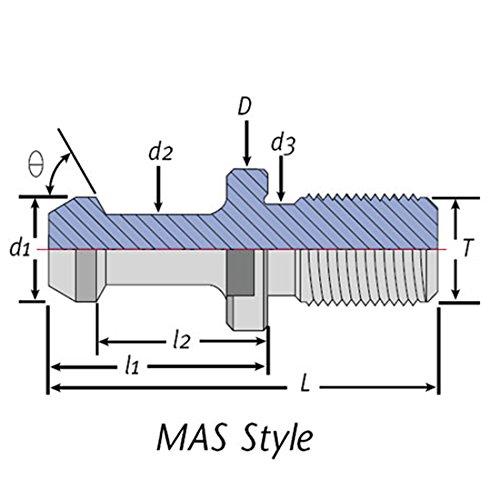 Techniks CAT50 Pull Stud/Retention Knob Coolant-II 45°