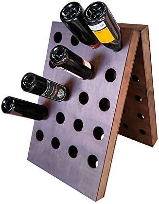 ZonaWine - Botellero de Suelo Tipo Pupitre Doble para 40 Botellas Vino y Cava Fabricado en España en Madera Oscura, Mide: 70/44/12 cm