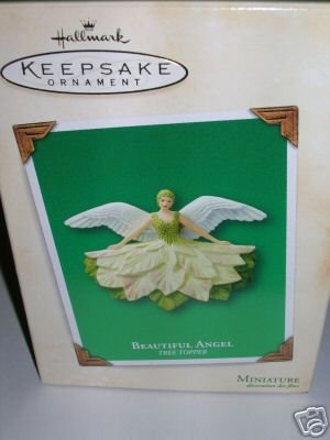 Beautiful Angel Tree topper 2003 MINIATURE hallmark ornament