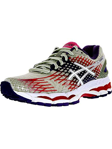 ASICS Women's Gel-Nimbus 17 Running Shoe,Lightning/White/Hot Pink,9.5 M US