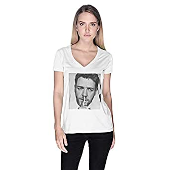Creo Russel Crowe T-Shirt For Women - L, White