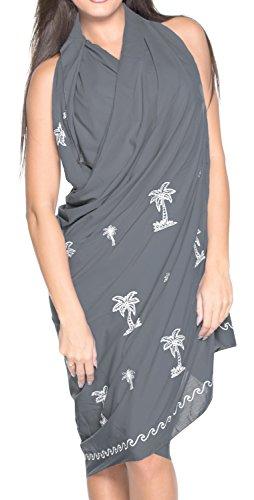 Swimwear Frauen Wear Wrap Sarong Kleid Rock Badeanzug Verschleiern Grau_3800