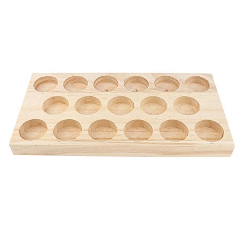 Homyl NATURAL WOOD Perfume Cosmetic Makeup Essential Oil Display Storage Organizer Rack Stand for 17 Pieces 30ml Vials by Homyl (Image #3)