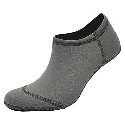 FANTINY 3rd Upgraded Version Durable Sole Barefoot Water Skin Shoes Aqua Socks For Beach Pool Sand Swim Surf Yoga Water Aerobics,ST03,Grey,XL